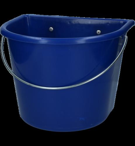 Voerbak 15 l met ophang en hengsel donkerblauw