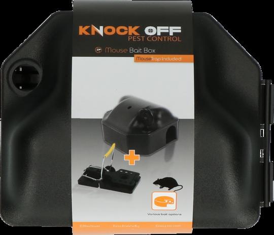 Knock Off Voerdoos Muis incl. muizenklem + sleutel