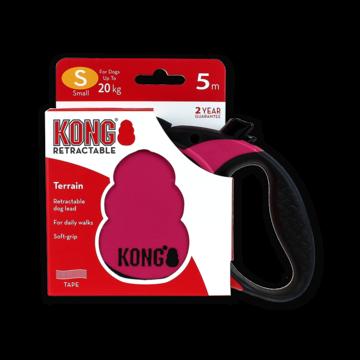 Kong Retractable Leash Terrain Pink S (5m/20kg)
