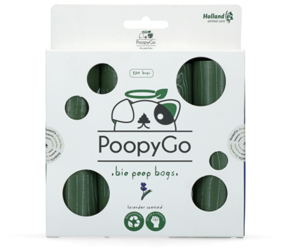 PoopyGo Eco friendly 120 st. (8x15 zakjes) Lavendelgeur